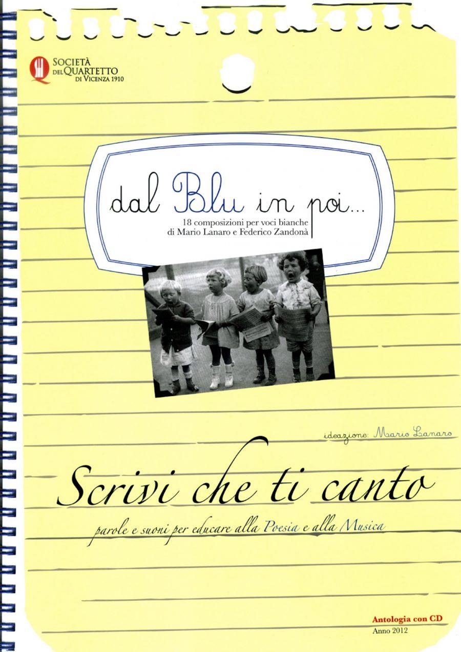"""Scrivi che ti canto: l'Antologia """"Dal Blu in poi…"""""""